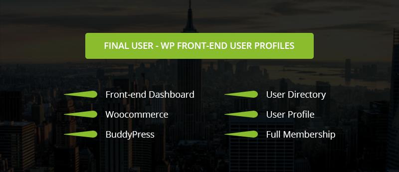 Usuário final - Perfis de usuário front-end do WP - 3